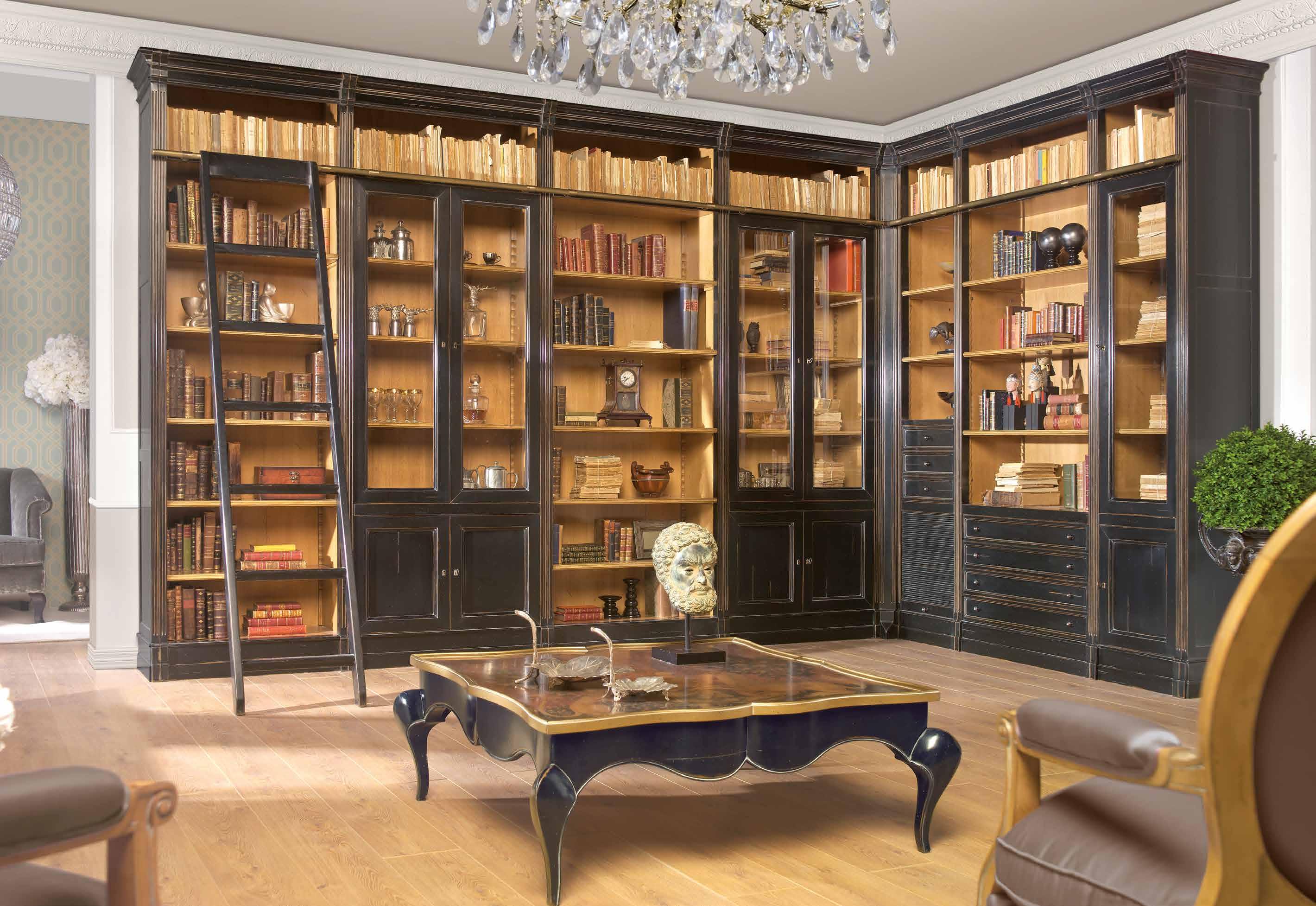 Дневник дизайнера: классическая мебель для домашней библиоте.